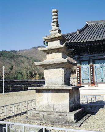 보림사 삼층석탑 전경