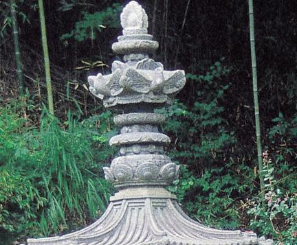 구례 연곡사 동 승탑 옥개석과 상륜부(복원후)