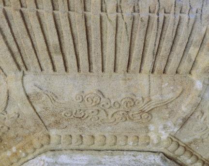 구례 연곡사 북 승탑 옥개석 운문