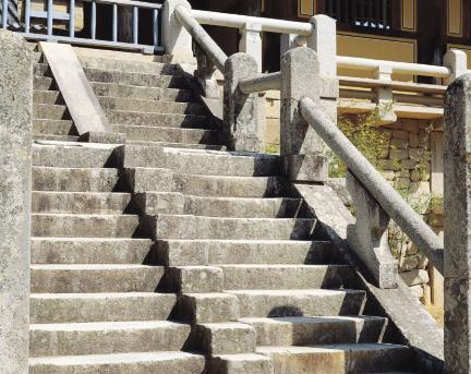 불국사 연화교칠보교 계단