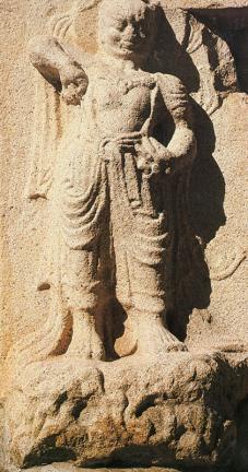 경주 분황사 모전석탑(인왕상)