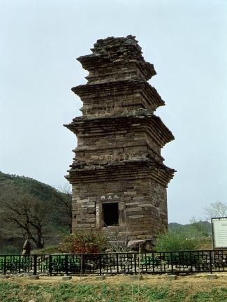 영양 산해리 오층모전석탑