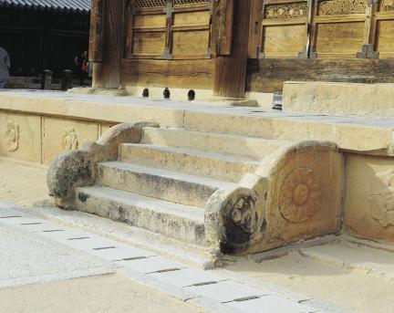 통도사 대웅전 계단