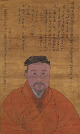 국보 제111호 안향 초상(2014년 국보 동산 앱 사진)