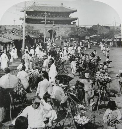 남대문 시장과 숭례문(1904)