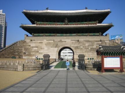 화재 전 날 숭례문(2008.02.09)