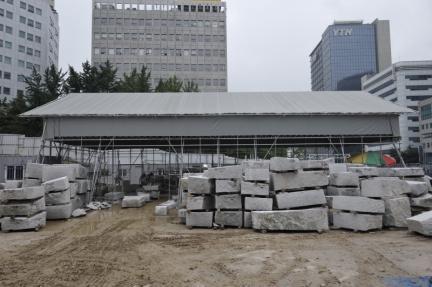 석재 가공소 설치 전경(2010.06)