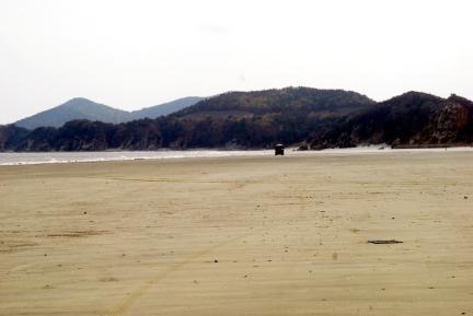 백령도사곶의사빈(천연비행장)전경