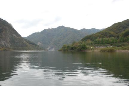 화천 평화의 댐 상방수역 황쏘가리 서식지 전경