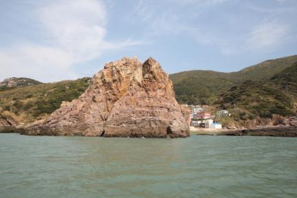 홍도천연보호구역 닷거리바위