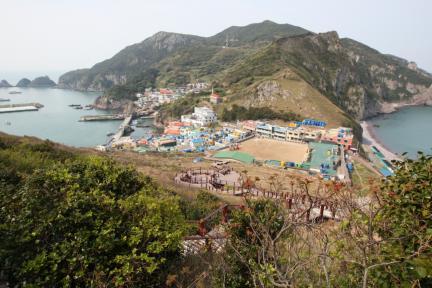 홍도천연보호구역 마을전경(전망대)