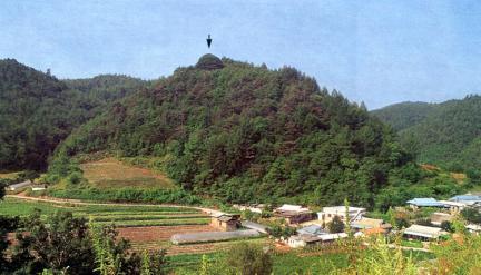 만지송과답곡리마을전경