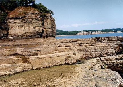 공룡화석지전경(상족암)