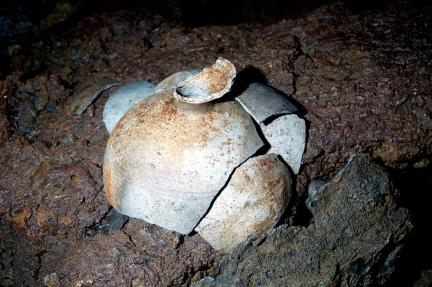 용천동굴 토기
