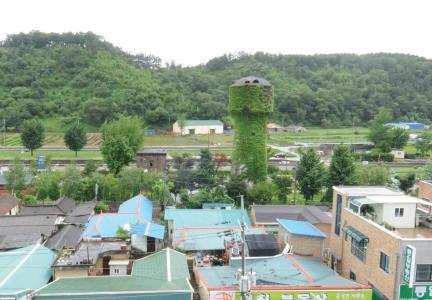 급수탑과 기계실 전경