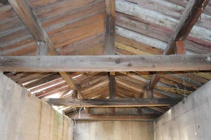 급수탑 출입구 지붕구조/문화재청