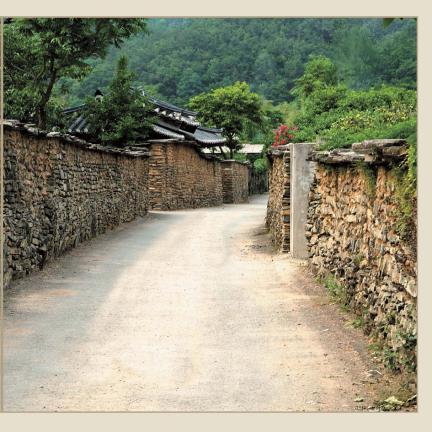 고성 학동마을 옛 담장