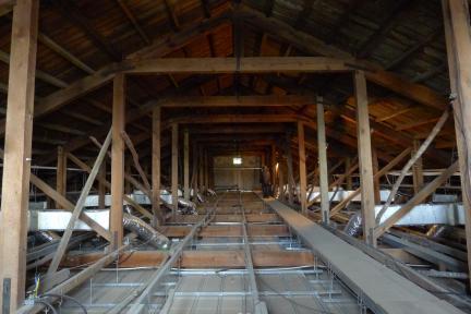 안동교회 예배당 - 지붕구조 - 20150915