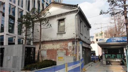 서울 남대문로 2층 한옥 상가 전경
