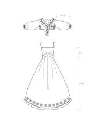 양단 아리랑 드레스