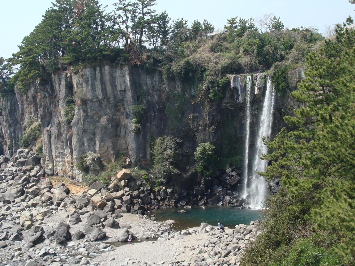 Jeongbang Falls in Seogwipo, Jeju