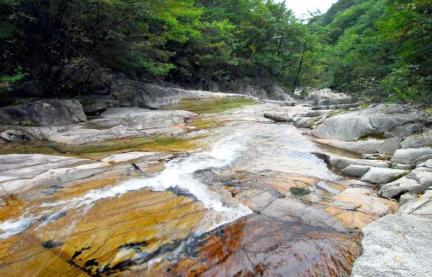 용연계곡의 암석하상과 소