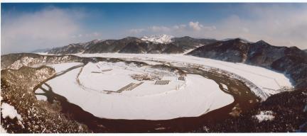 예천회룡포 겨울