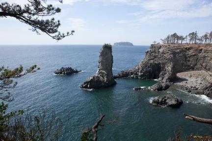 외돌개일대 와 범섬 전경