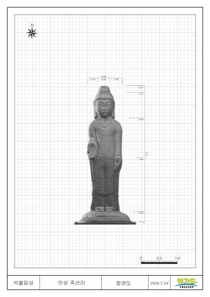 안성죽산리석불입상(3D스캔자료 - 정면)