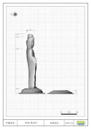 안성죽산리석불입상(3D스캔자료 - 좌측)
