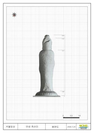 안성죽산리석불입상(3D스캔자료 - 배면)