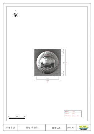 안성죽산리석불입상(3D스캔자료 - 위에서 내려봄)
