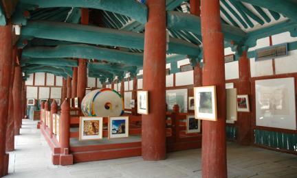 선운사 만세루(내부)