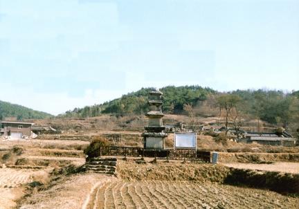 임하동삼층석탑(전경)