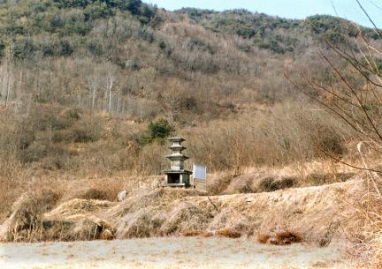 안동죽전동삼층석탑(전경)