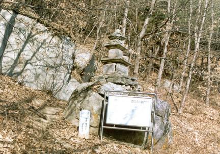안동막곡동삼층석탑(전경)