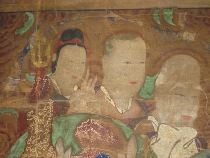 산청문수암석가영산회후불탱