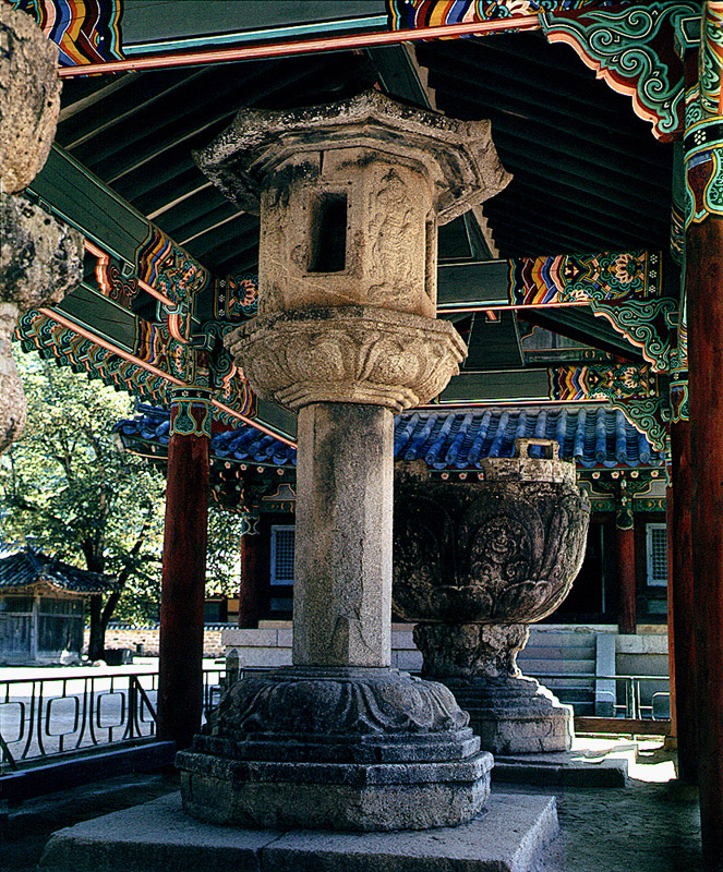 Stone Lantern with Four Guardian Kings in Beopjusa Temple