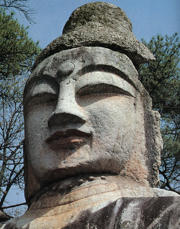 Rock-carved Standing Buddha in Icheon-dong, Andong