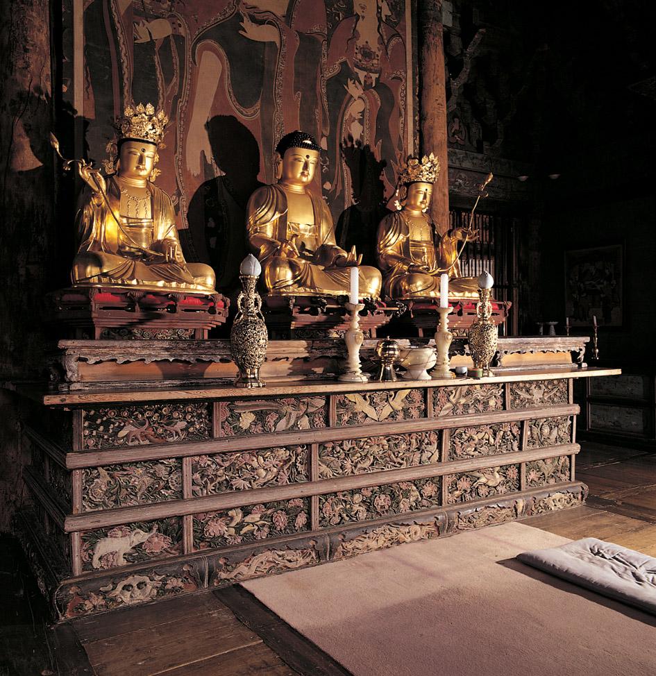 Buddhist Altar at Baekheungam Hermitage of Eunhaesa Temple, Yeongcheon
