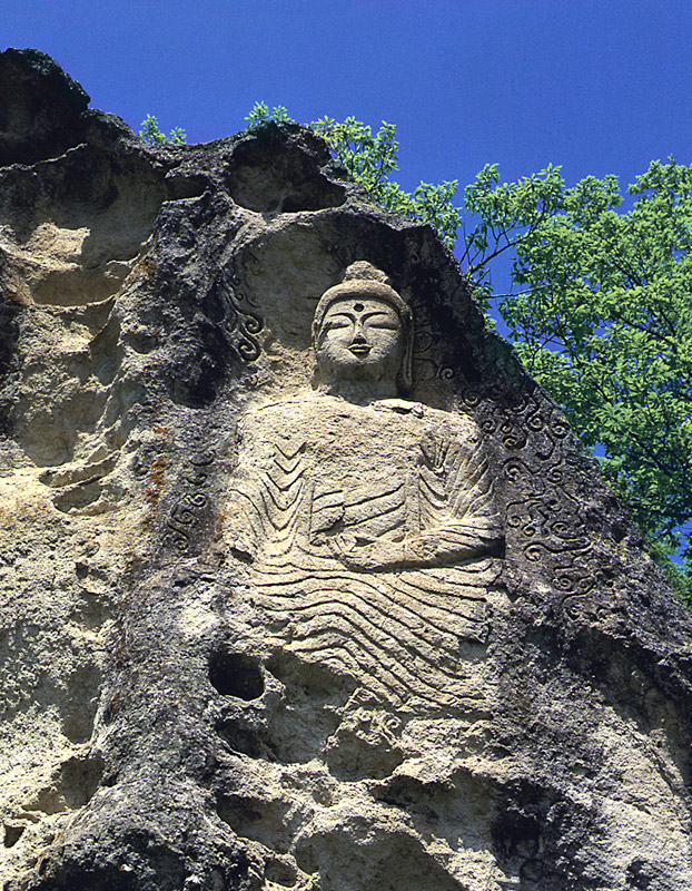 Relief of seated buddha of Golguram Hermitage in Wolseong