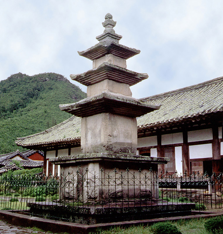Three storied stone pagoda of Unmunsa Temple