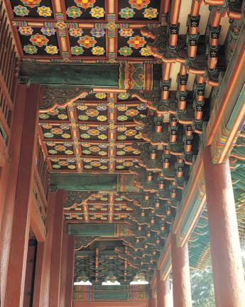 창덕궁 돈화문 1층 내부 공포와 천장