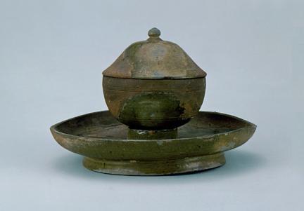 도기 녹유 탁잔(陶器 綠釉 托盞)