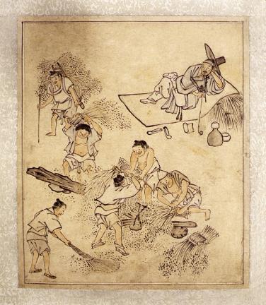 김홍도필 풍속도 화첩(金弘道筆 風俗圖 畵帖)-벼타작