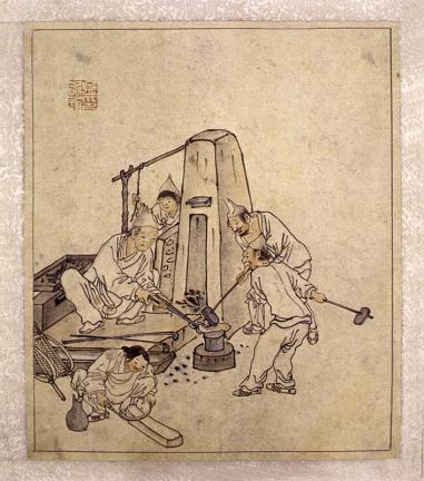 김홍도필 풍속도 화첩(金弘道筆 風俗圖 畵帖)-대장간