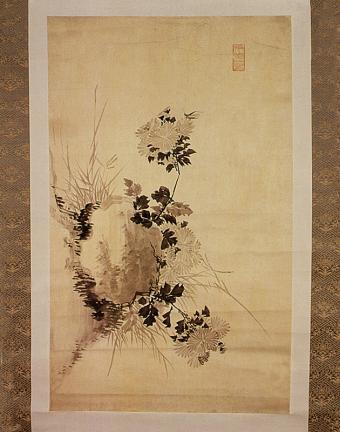 정조필 국화도(正祖筆 菊花圖)