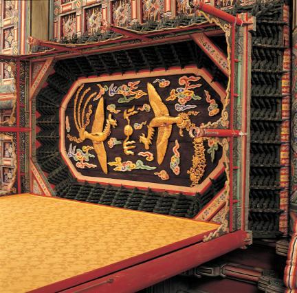 창덕궁 선정전 어좌상부 보개 천장