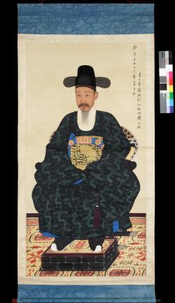 보물 제1499-1호 이하응 초상 일괄(흑단령포본)