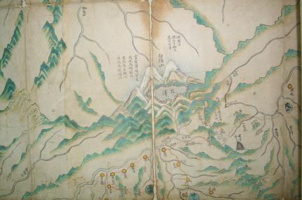 보물 제1537-1호 서북피아양계만리일람지도 - 백두산부분